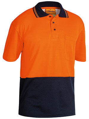 Bisley 2 Tone Hi Vis Polo Shirt - Short Sleeve (BK1234)