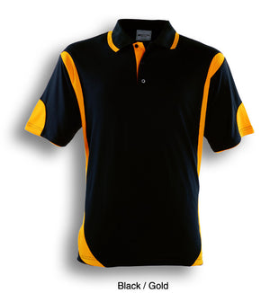 Bocini-Bocini Adults Breezeway Contrast Polo(1st 12 colors)-Black/Gold / S-Uniform Wholesalers - 2