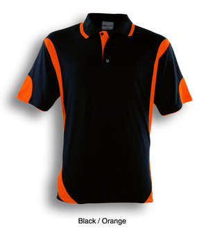 Bocini-Bocini Adults Breezeway Contrast Polo(1st 12 colors)-Black/Orange / S-Uniform Wholesalers - 3