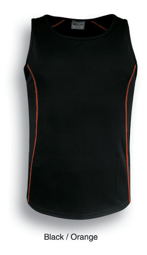 Bocini-Bocini Kids Stitch Essentials Singlet-Black/Orange / 6-Uniform Wholesalers - 2