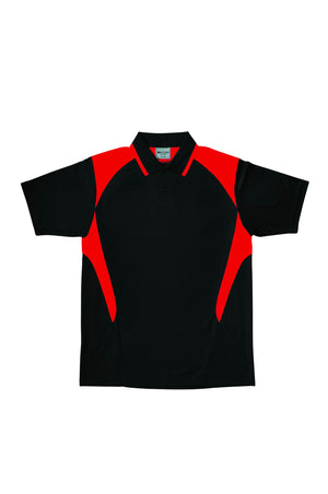 Bocini-Bocini Kid's Active Polo-Black/Red / 6-Uniform Wholesalers - 2