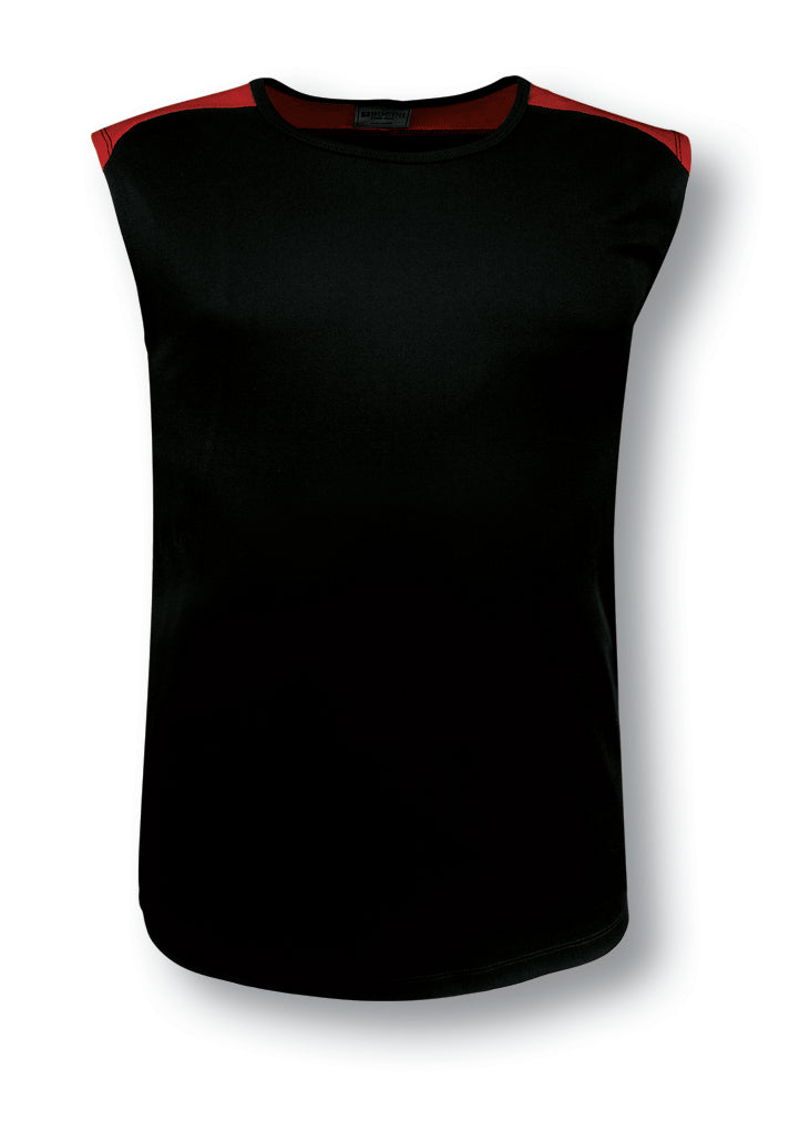 Bocini-Bocini Men's Contrast Feature Tank-Black/Red / XS-Uniform Wholesalers - 2