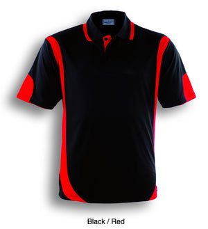 Bocini-Bocini Adults Breezeway Contrast Polo(1st 12 colors)-Black/Red / S-Uniform Wholesalers - 4