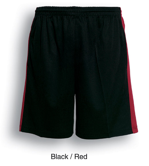 Bocini-Bocini Adults Soccer Shorts-Black/Red / S-Uniform Wholesalers - 2