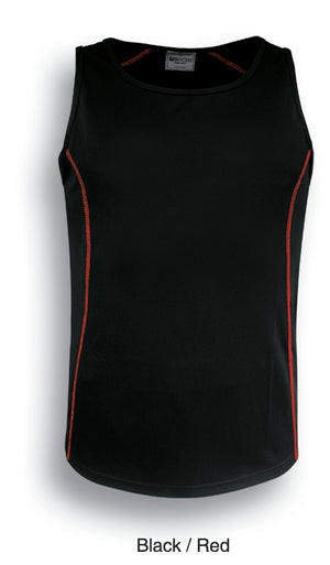 Bocini-Bocini Kids Stitch Essentials Singlet-Black/Red / 6-Uniform Wholesalers - 3