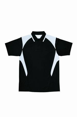 Bocini-Bocini Kid's Active Polo-Black/White / 6-Uniform Wholesalers - 3