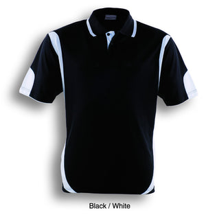Bocini-Bocini Adults Breezeway Contrast Polo(1st 12 colors)-Black/White / S-Uniform Wholesalers - 5