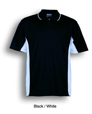 Bocini-Bocini Men's Breezeway Panel Polo(1st 10 colors)-Black/White / S-Uniform Wholesalers - 6