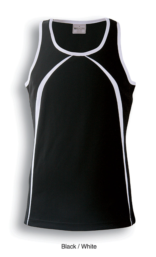 Bocini-Bocini Men's Breezeway Singlet-Black/White / S-Uniform Wholesalers - 2