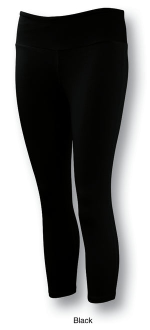 Bocini-Bocini Ladies Gym Tights-Black / 8-Uniform Wholesalers - 2