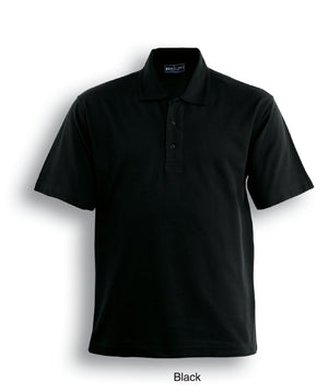 Bocini-Bocini Cotton Jersey Polo-Black / S-Uniform Wholesalers - 2