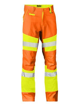 Bisley Taped Biomotion Double Hi Vis Pant (BP6411T)