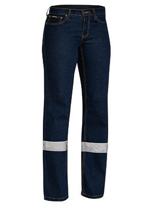 Bisley Womens Taped Stretch Jeans (BPL6712T)