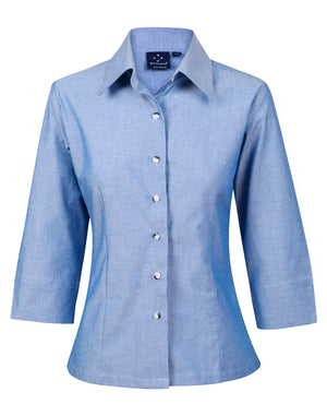 Winning Spirit Ladies' Chambray 3/4 Sleeve (BS04)