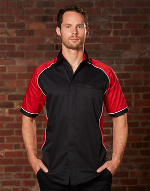 Winning Spirit Men's Arena Tri-colour Contrast Shirt (BS15)
