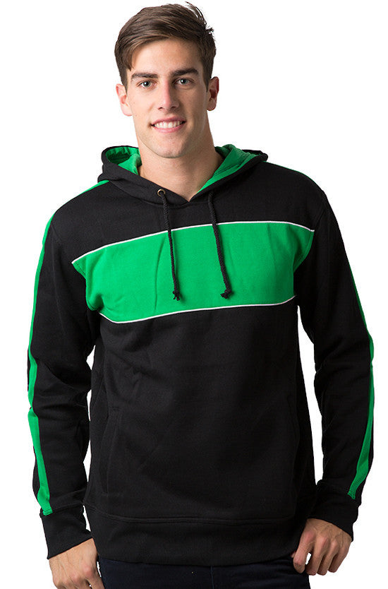 Be Seen-Be Seen Adults Three Toned Hoodie With Contrast-Black-Emerald-White / XS-Uniform Wholesalers - 1