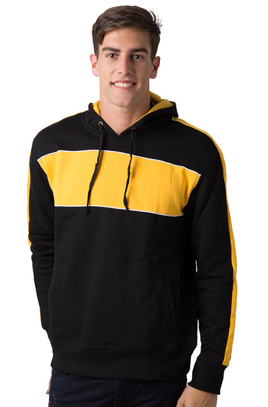 Be Seen-Be Seen Adults Three Toned Hoodie With Contrast-Black-Light Gold-White / XS-Uniform Wholesalers - 4