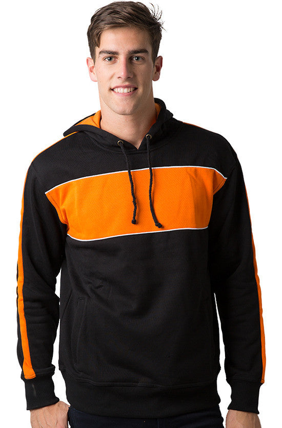 Be Seen-Be Seen Adults Three Toned Hoodie With Contrast-Black-Orange-White / XS-Uniform Wholesalers - 7