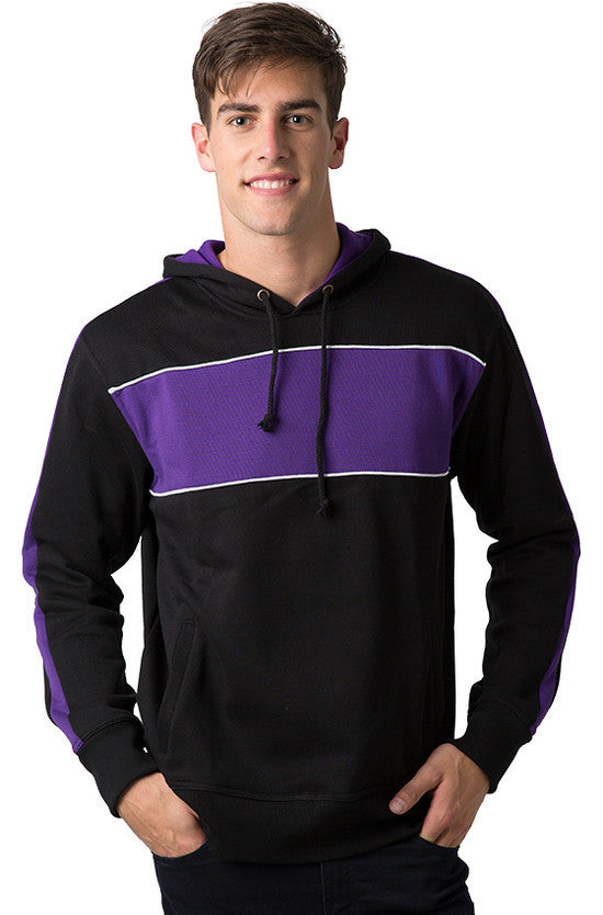 Be Seen-Be Seen Adults Three Toned Hoodie With Contrast-Black-Purple-White / XS-Uniform Wholesalers - 10