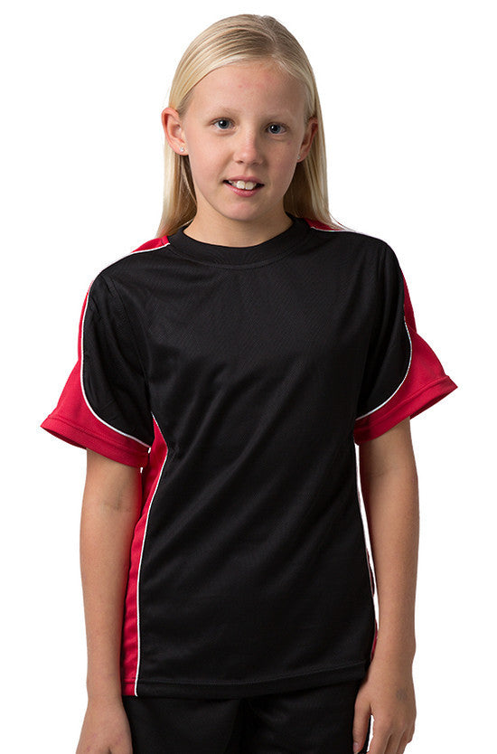Be Seen-Be Seen Kids Knit Rugby Jersey-Black-Red-White / 6-Uniform Wholesalers - 3