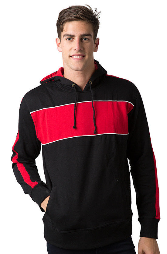 Be Seen-Be Seen Adults Three Toned Hoodie With Contrast-Black-Red-White / XS-Uniform Wholesalers - 13