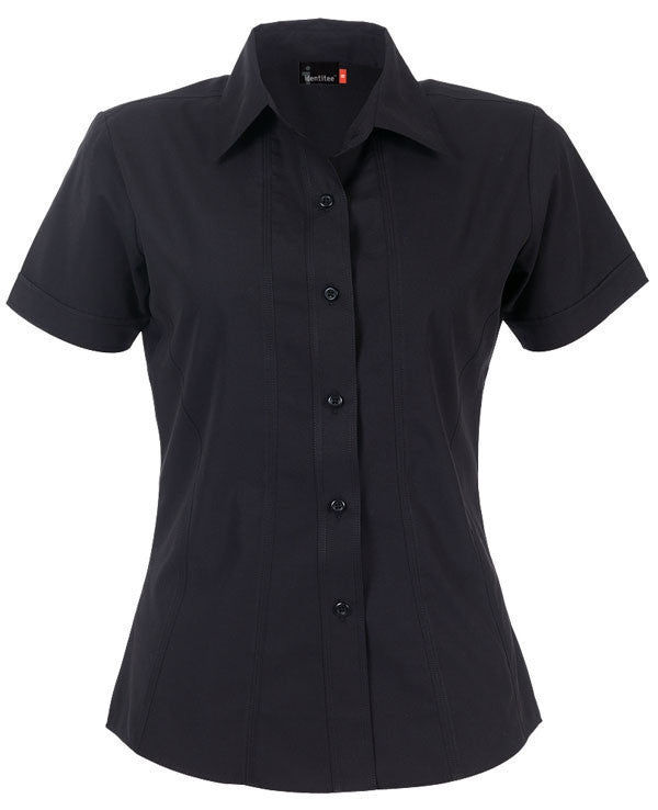 identitee-Identitee Ladies Aston Short Sleeve-Black / 8-Uniform Wholesalers - 2