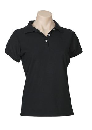 Biz Collection-Biz Collection Ladies Neon Polo-Black / 6-Uniform Wholesalers - 2