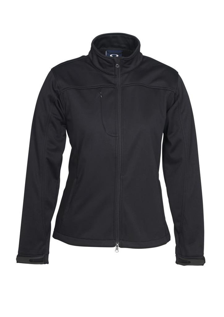 Biz Collection-Biz Collection Ladies Soft Shell Jacket-Black / S-Uniform Wholesalers - 2
