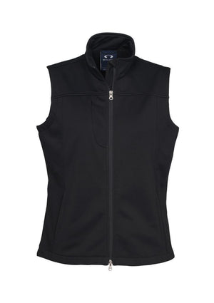 Biz Collection-Biz Collection Ladies Soft Shell Vest-Black / S-Uniform Wholesalers - 2