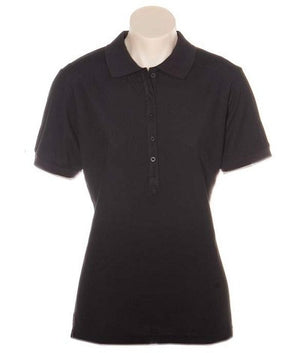 Australian Spirit-Aus Spirt Gelato Ladies Polo-Black / 8-Uniform Wholesalers - 3