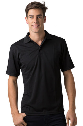 Be Seen-Be Seen Men's Plain Polo Shirt-Black / S-Uniform Wholesalers - 1