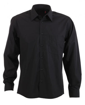 identitee-Identitee Mens Rodeo Long Sleeve-Black / S-Uniform Wholesalers - 2