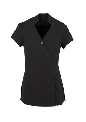 Biz Collection-Biz Collection Ladies Zen Crossover Tunic-Black / 6-Uniform Wholesalers - 1