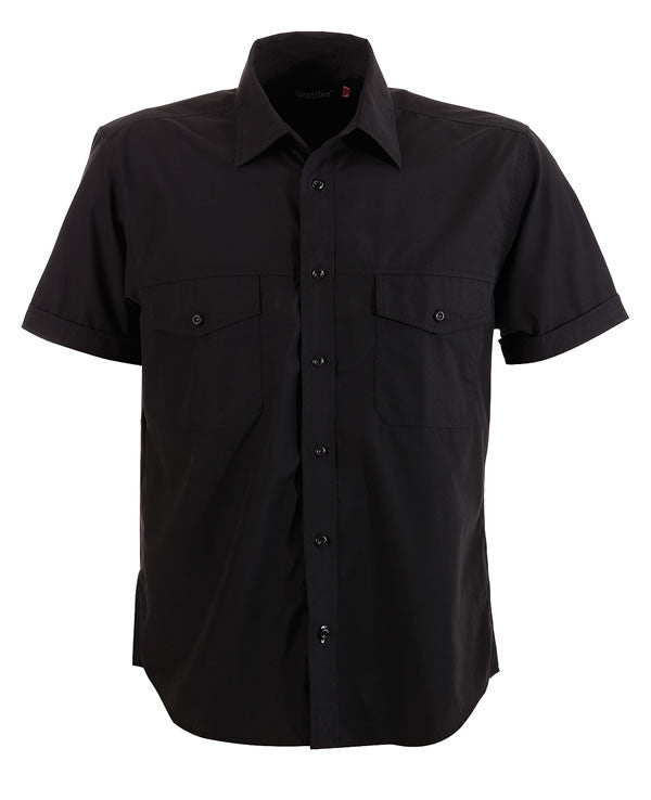 identitee-Identitee Mens Harley Short Sleeve-Black / S-Uniform Wholesalers - 2
