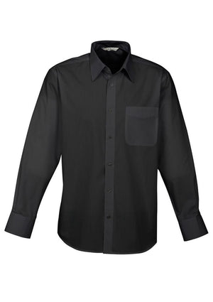 Biz Collection-Biz Collection Mens Base Long Sleeve Shirt-Black / XS-Uniform Wholesalers - 2