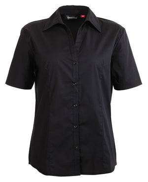 identitee-Identitee Ladies Rodeo Short Sleeve-Black / 8-Uniform Wholesalers - 2