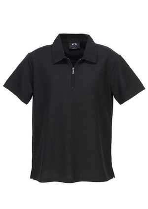 Biz Collection-Biz Collection Ladies Micro Waffle Polo-Black / 8-Uniform Wholesalers - 3
