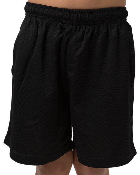 Be Seen-Be Seen Kids Plain Shorts With Elastic Waist-Black / 4-Uniform Wholesalers - 1