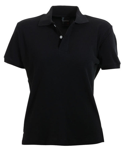 identitee-identitee Ladies Venice Slim Cut Polo Shirt-Black / 8-Uniform Wholesalers - 2
