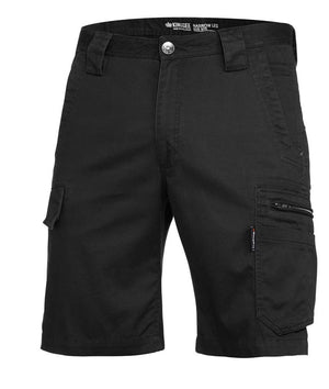 King Gee-King Gee Tradie Sum Shorts-Black / 77R-Uniform Wholesalers - 1
