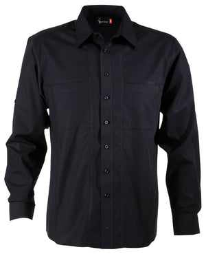identitee-Identitee Mens Aston Long Sleeve-Black / S-Uniform Wholesalers - 2