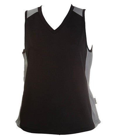 Australian Spirit-Aus Spirt Olympikool Ladies Singlet 1st ( 10 Colour )-Black / Ashe marle / 8-Uniform Wholesalers - 4