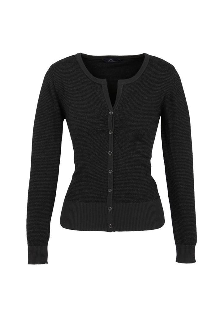 Biz Collection-Biz Collection Ladies Origin Merino Cardigan-Black / S-Uniform Wholesalers - 2