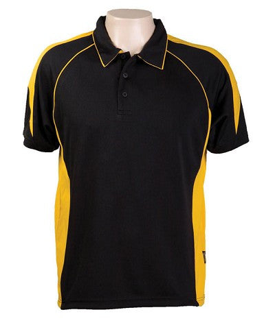 Australian Spirit-Aus Spirt Olympikool Mens Polo 1st ( 10 Colour )-Black / Gold / S-Uniform Wholesalers - 8