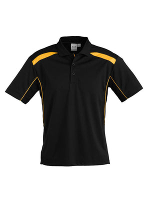 Biz Collection-Biz Collection Mens United Short Sleeve Polo 1st ( 11 Colour )-Black / Gold / Small-Uniform Wholesalers - 18