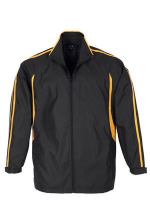 Biz Collection-Biz Collection Adults Flash Track Top 2nd ( 4 Colour )-Black / Gold / XS-Uniform Wholesalers - 2