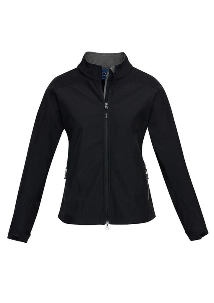 Biz Collection-Biz Collection Geneva Ladies Softshell-Black/Graphite / S-Uniform Wholesalers - 3