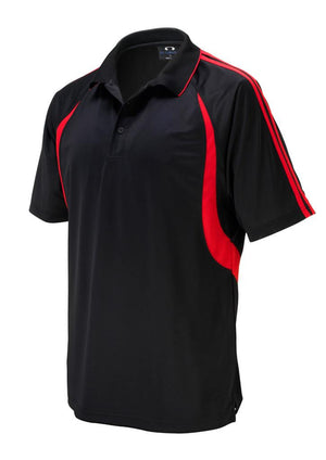 Biz Collection-Biz Collection Mens Flash Polo 1st (  9 Colour )-Black / Red / Small-Uniform Wholesalers - 4