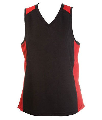 Australian Spirit-Aus Spirt Olympikool Ladies Singlet 1st ( 10 Colour )-Black / Red / 8-Uniform Wholesalers - 6