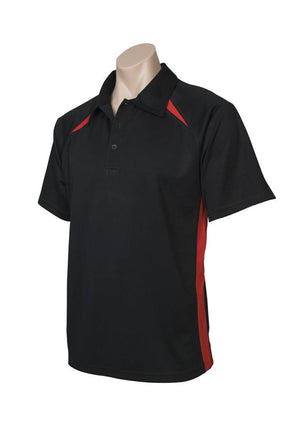 Biz Collection-Biz Collection  Mens Splice Polo 1st ( 10 Colour )-Black / Red / Small-Uniform Wholesalers - 5